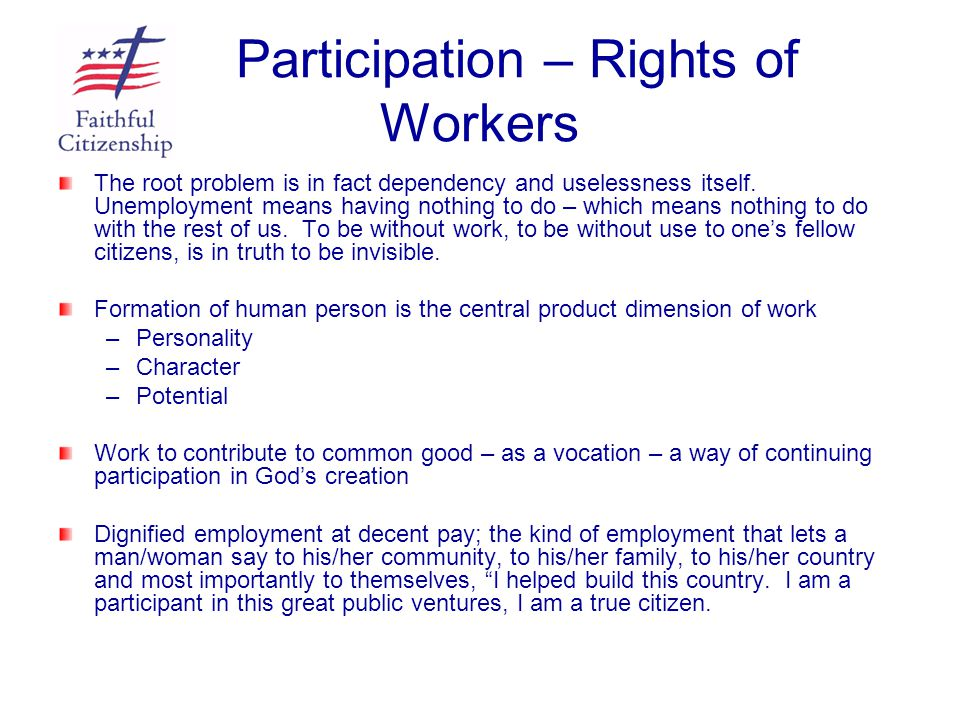 Participation – Rights of Workers