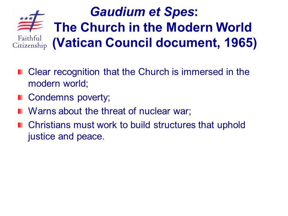 Gaudium et Spes: The Church in the Modern World (Vatican Council document, 1965)
