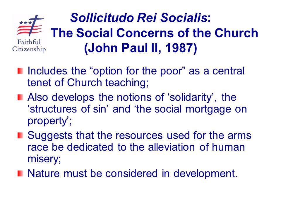 Sollicitudo Rei Socialis: The Social Concerns of the Church (John Paul II, 1987)