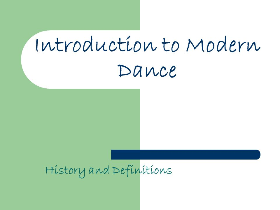 Introduction to Modern Dance