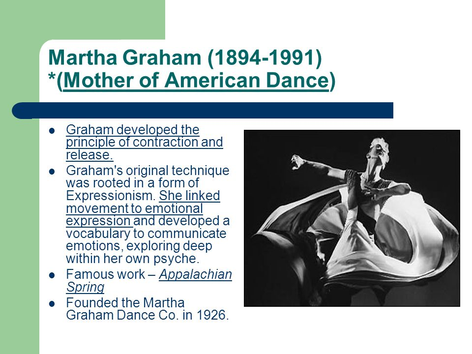 Martha Graham (1894-1991) *(Mother of American Dance)
