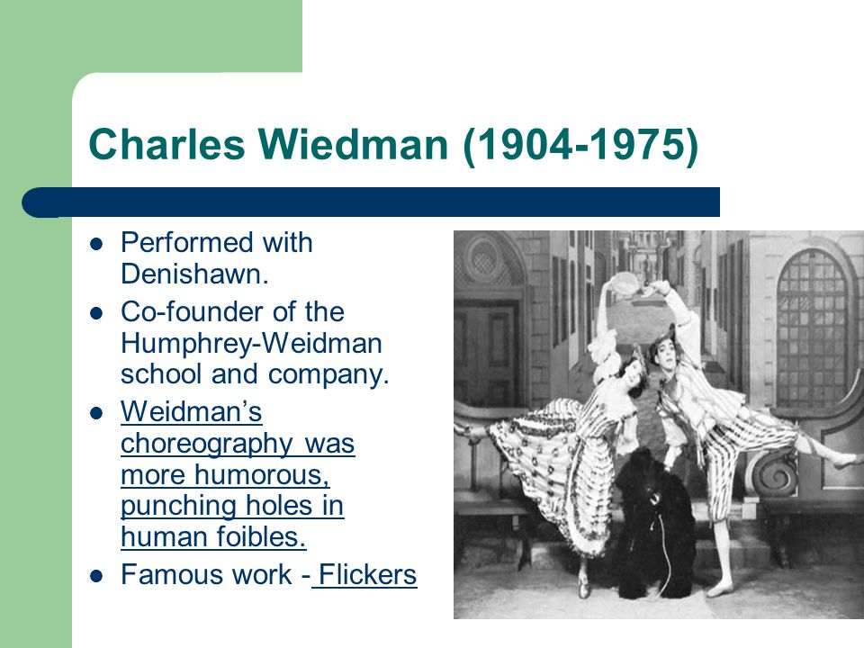 Charles Wiedman (1904-1975) Performed with Denishawn.