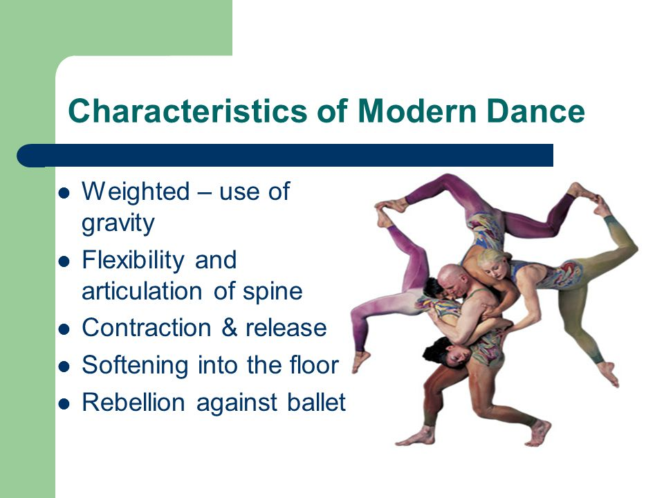 the history of modern dance a genre of western theatrical dance A theatrical performance may include music, dance and various elements of stagecraft such as costumes, sets, lights, stage properties and sound engineering, among others modern western theatre derives theatre is a branch of the performing arts.