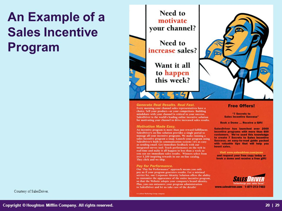 An Example of a Sales Incentive Program