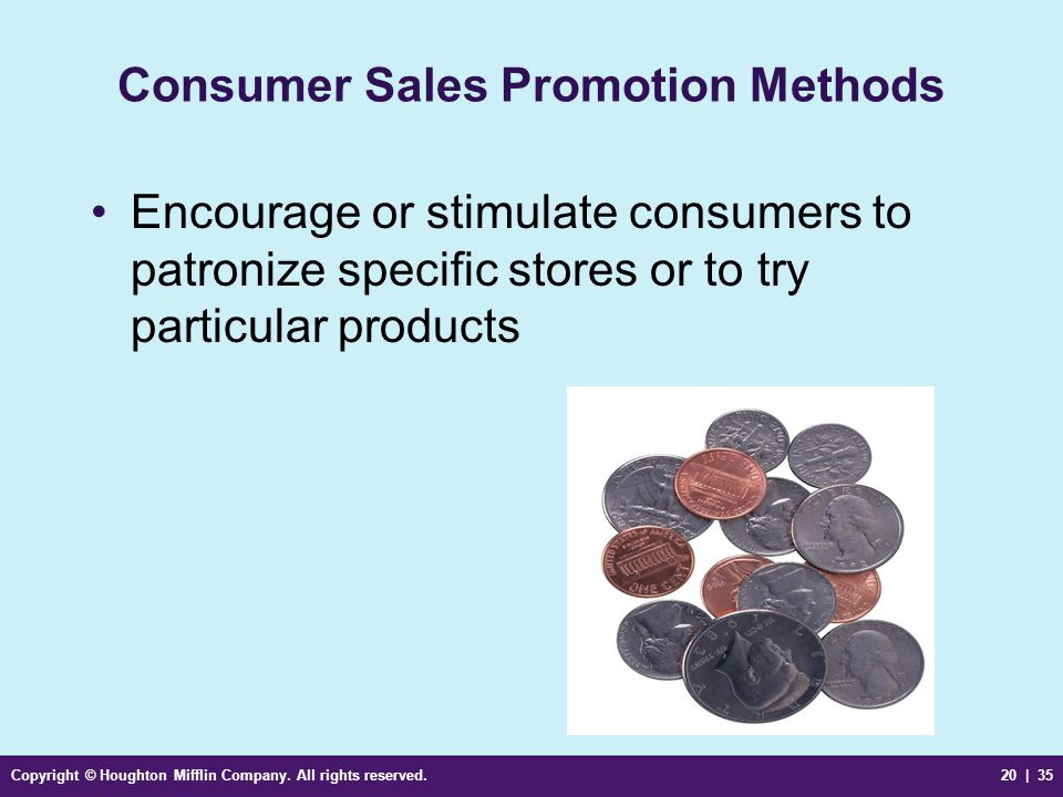 Consumer Sales Promotion Methods