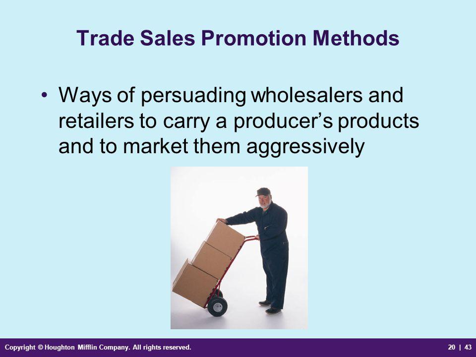 Trade Sales Promotion Methods
