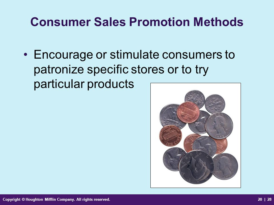 Consumer Sales Promotion Methods