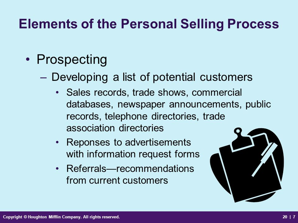 Elements of the Personal Selling Process