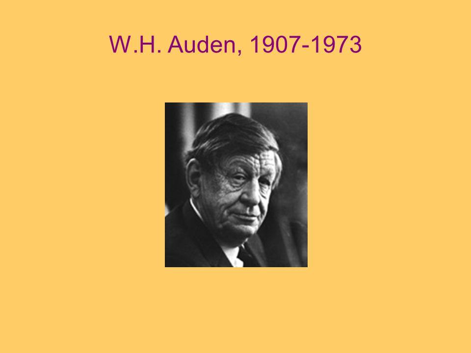 W.H. Auden, 1907-1973