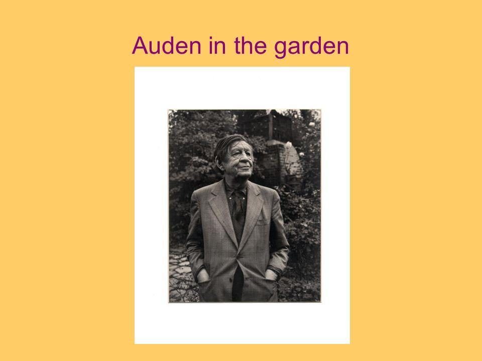 Auden in the garden