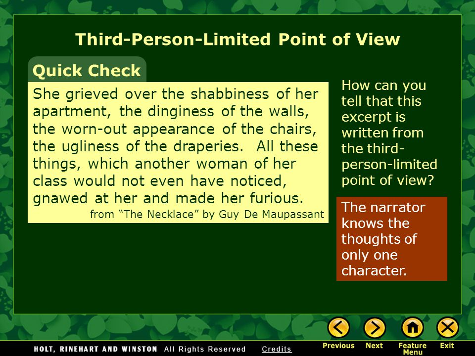 Third-Person-Limited Point of View