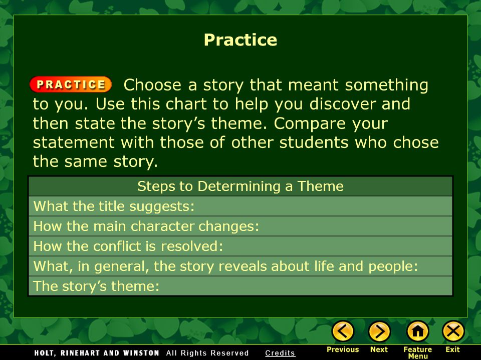Steps to Determining a Theme