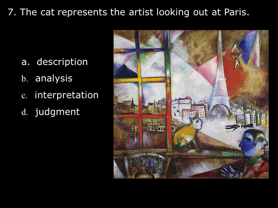 7. The cat represents the artist looking out at Paris.