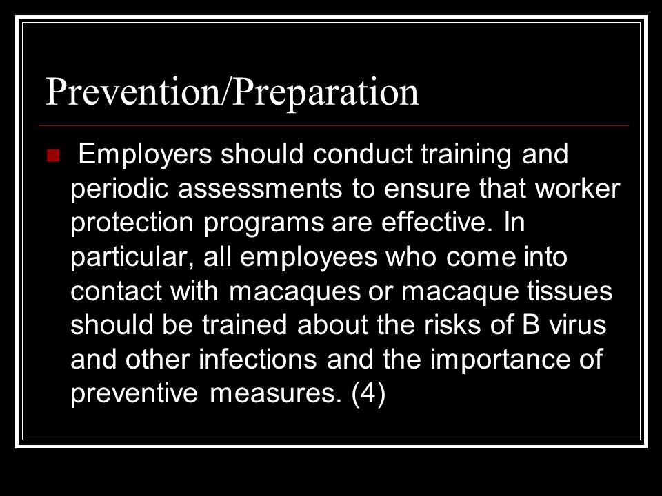 Prevention/Preparation