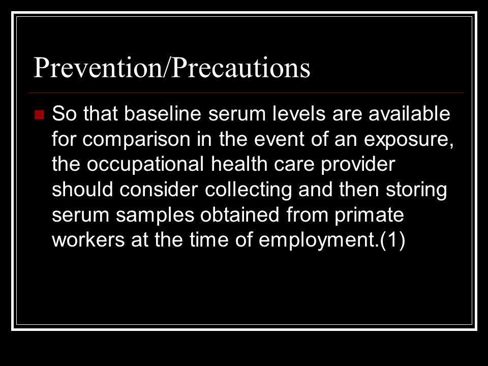 Prevention/Precautions