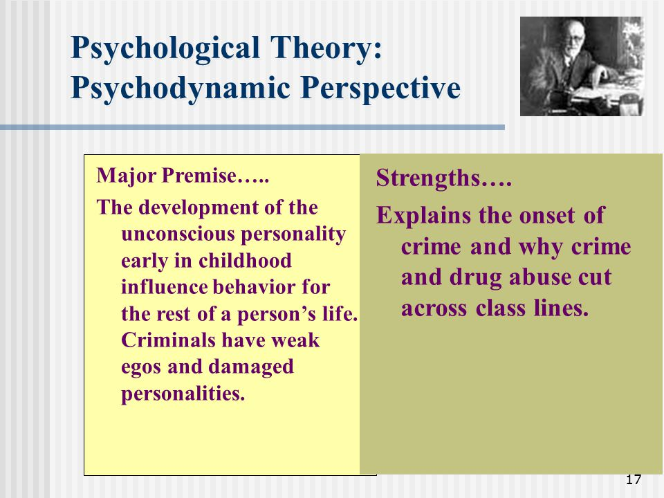 Psychological Theory: Psychodynamic Perspective