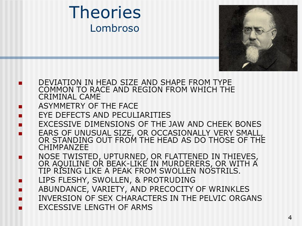 Foundations of Trait Theories Lombroso