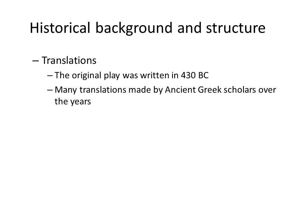 Historical background and structure