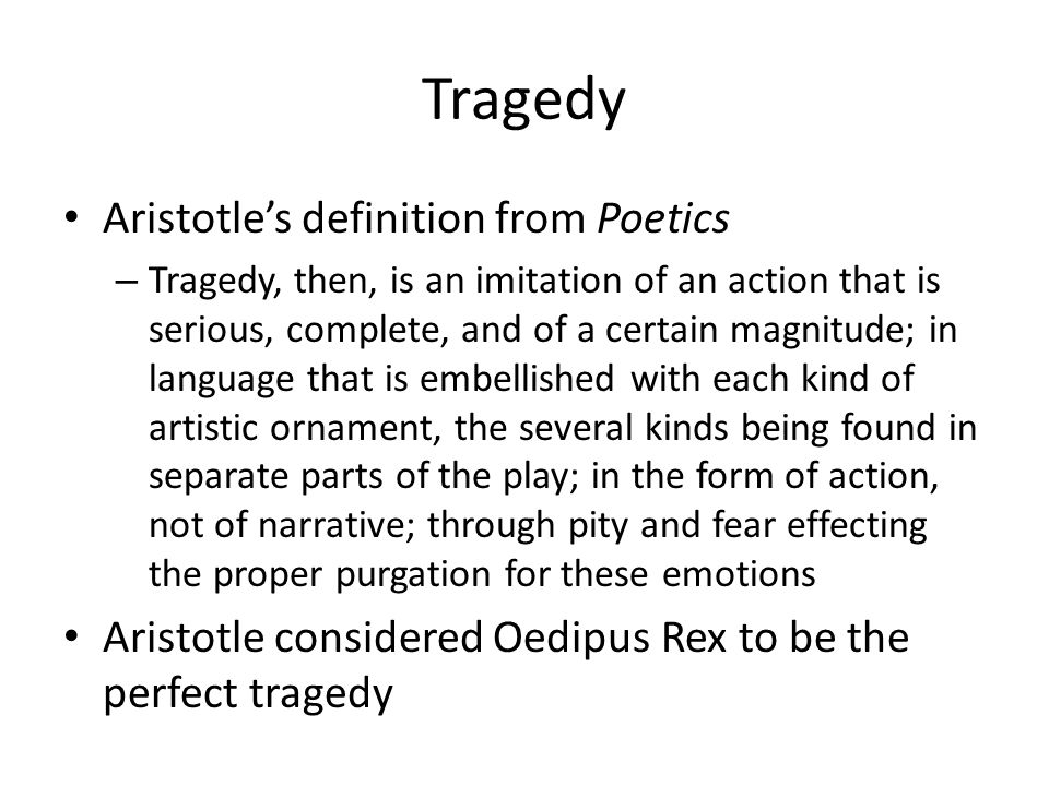 Tragedy Aristotle's definition from Poetics