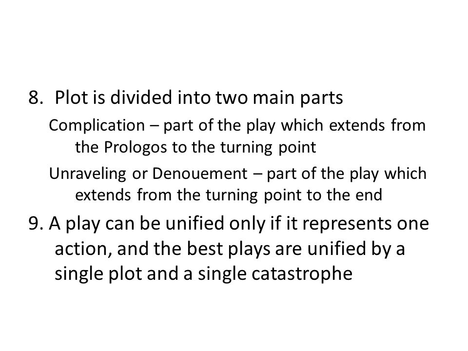 Plot is divided into two main parts