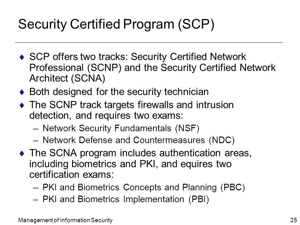 Security Certified Program (SCP)