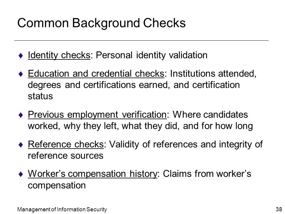 Common Background Checks