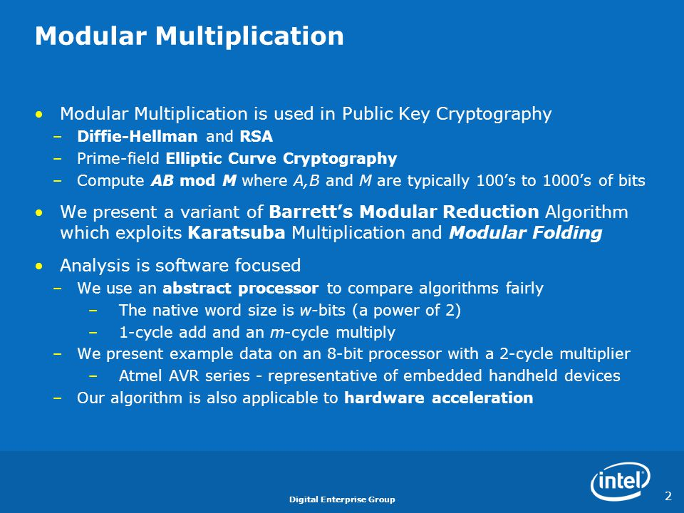 Modular Multiplication