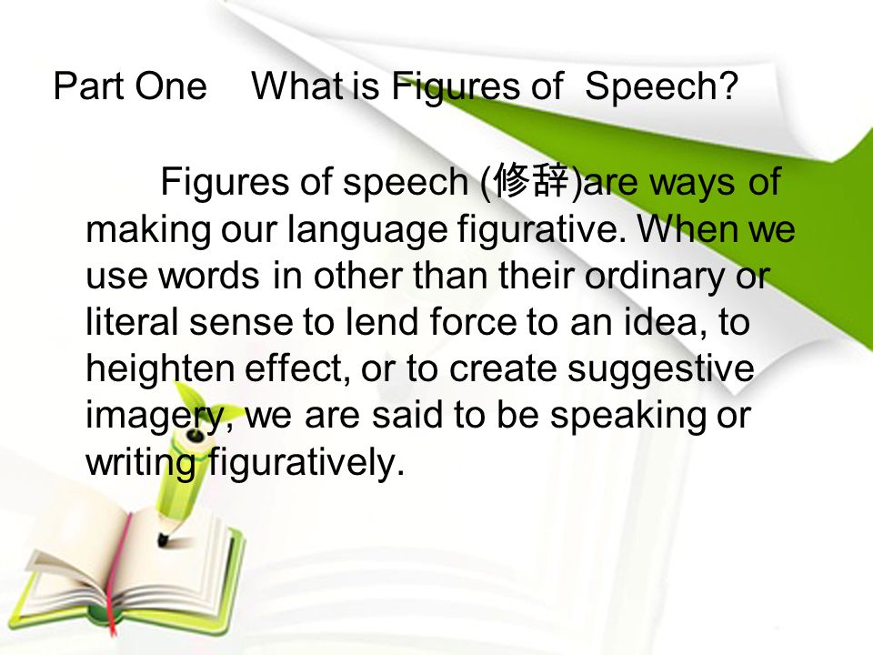 Part One What is Figures of Speech