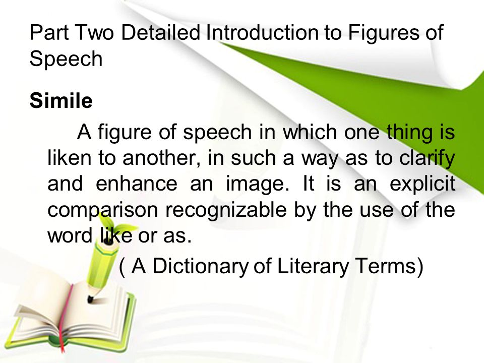 Part Two Detailed Introduction to Figures of Speech