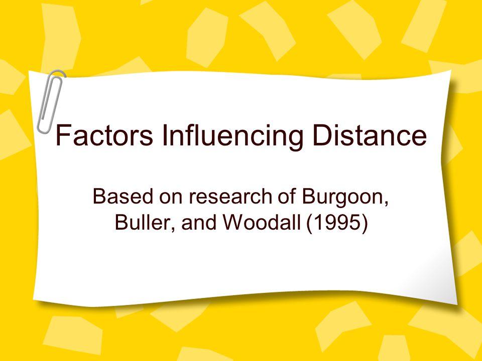 Factors Influencing Distance