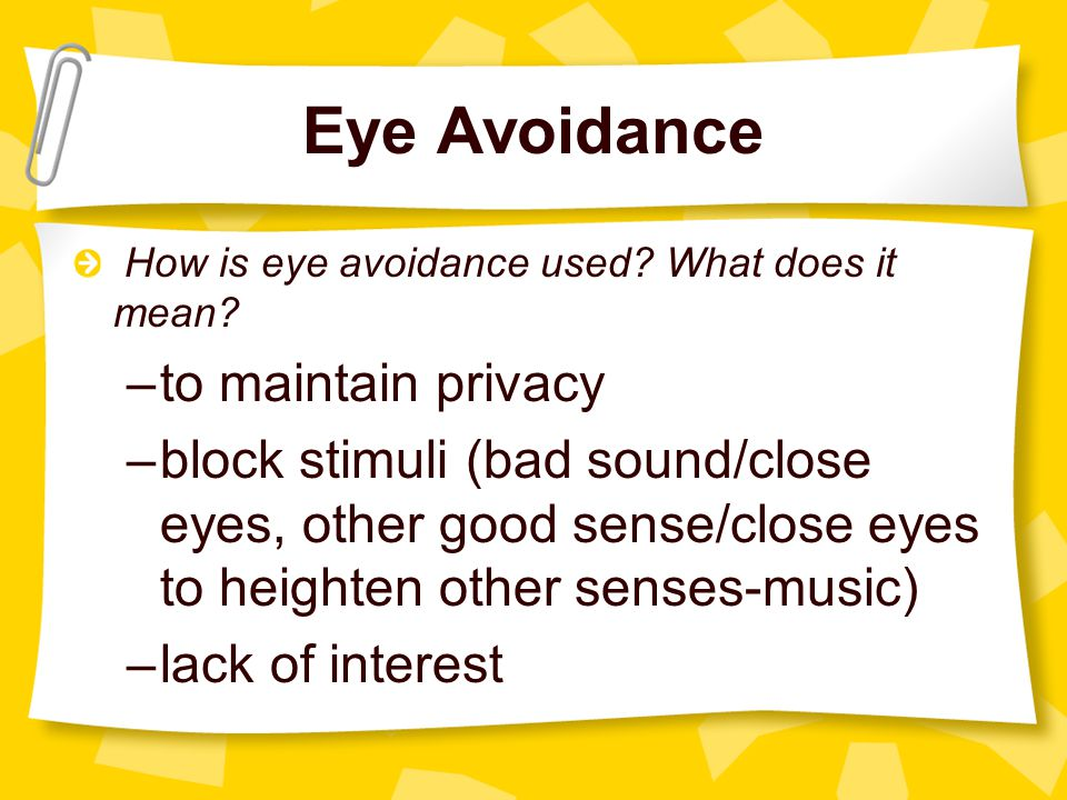 Eye Avoidance to maintain privacy