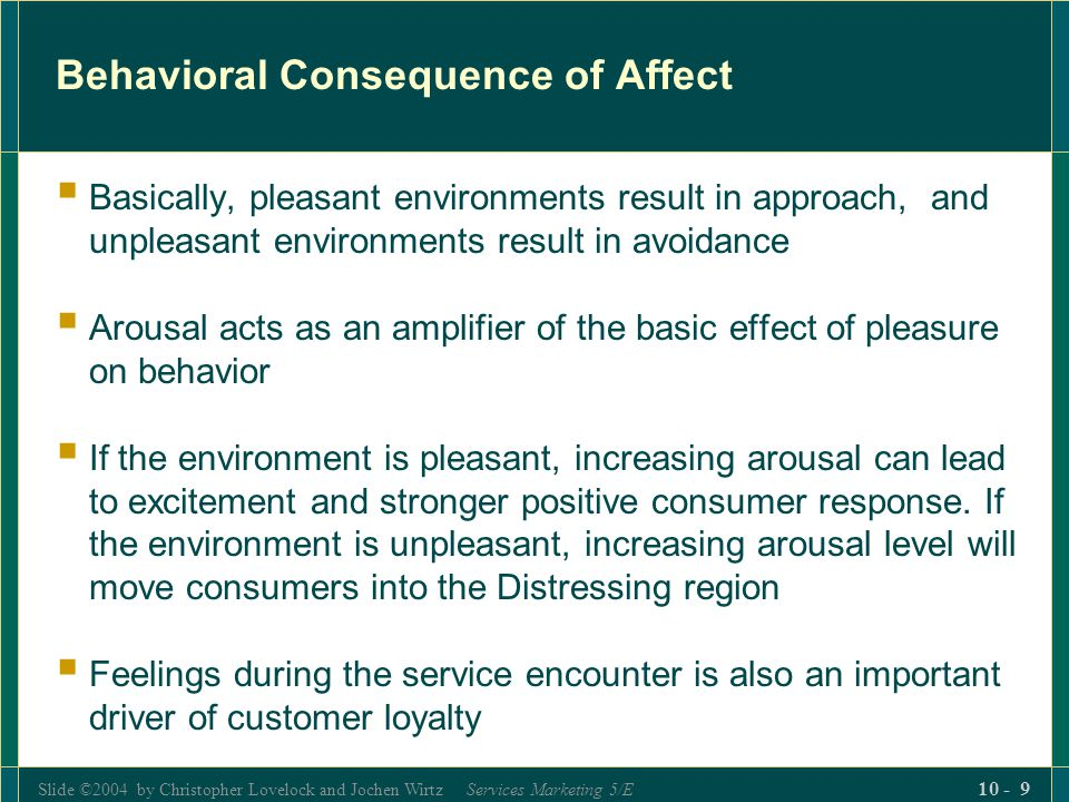 Behavioral Consequence of Affect