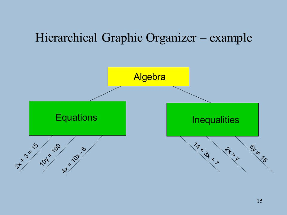 Hierarchical Graphic Organizer – example