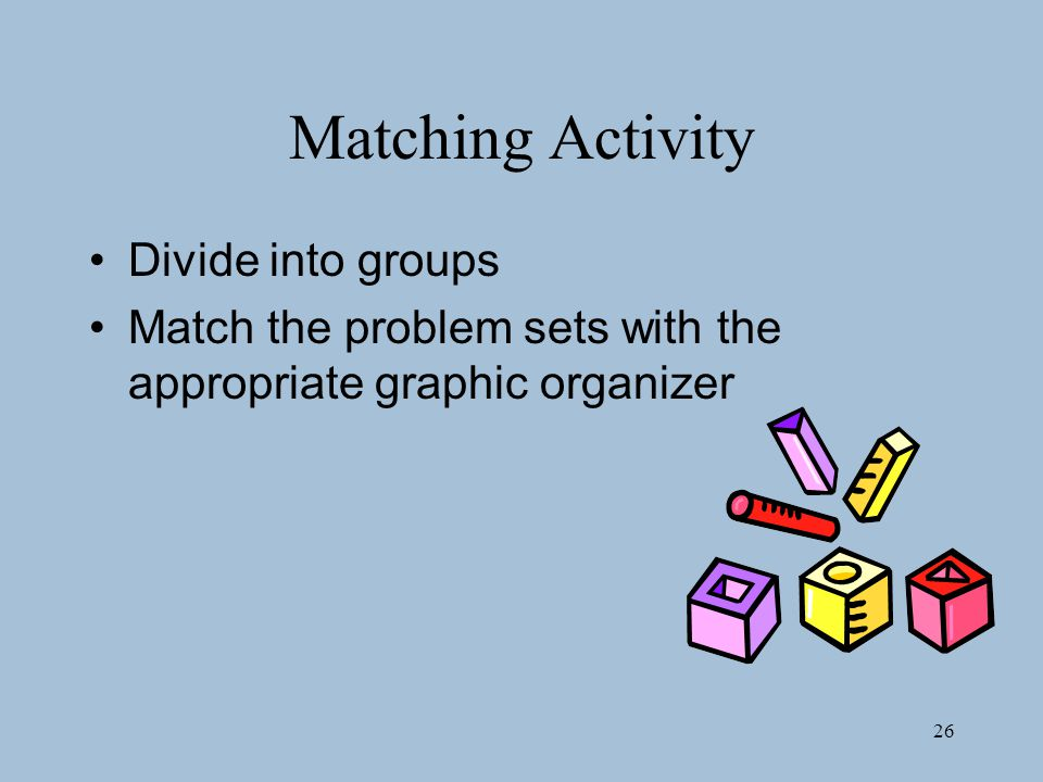 Matching Activity Divide into groups