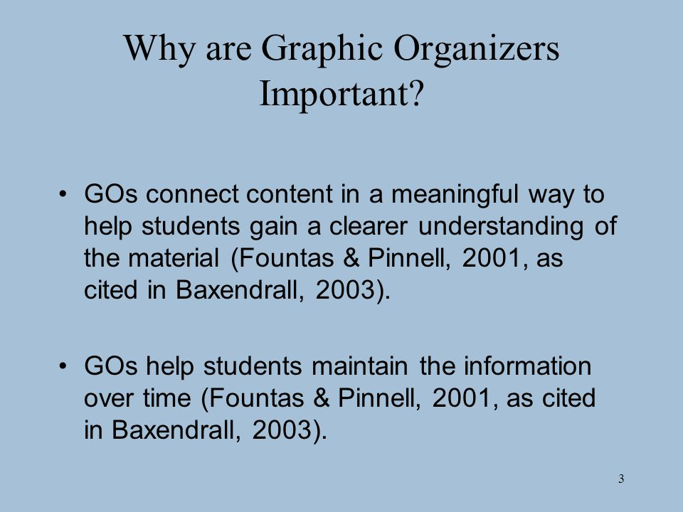 Why are Graphic Organizers Important