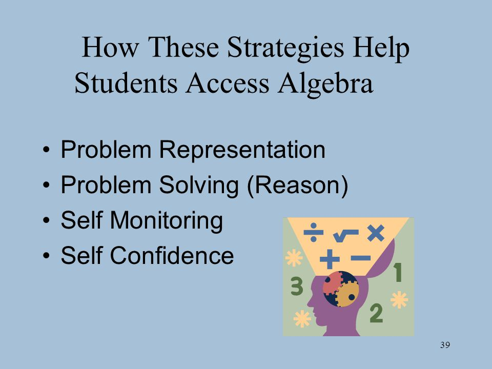 How These Strategies Help Students Access Algebra