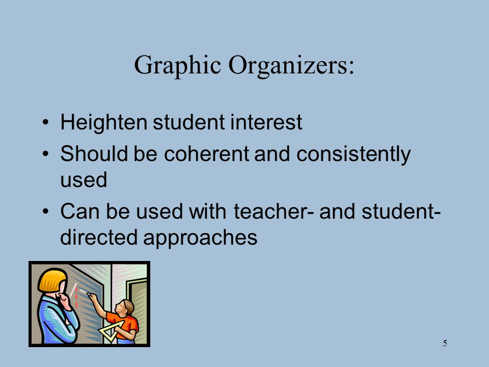 Graphic Organizers: Heighten student interest