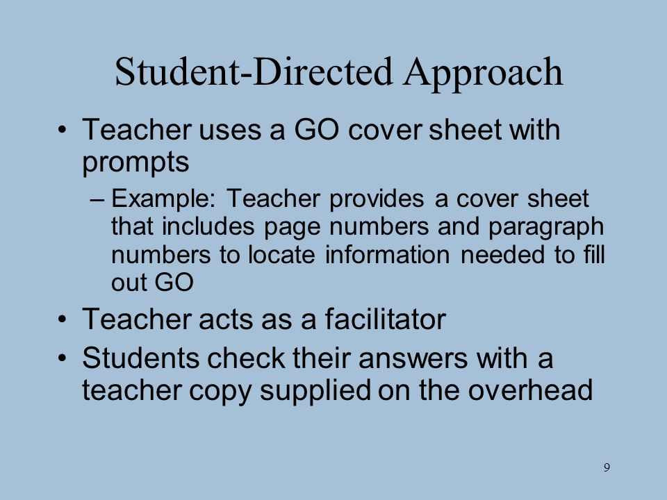 Student-Directed Approach