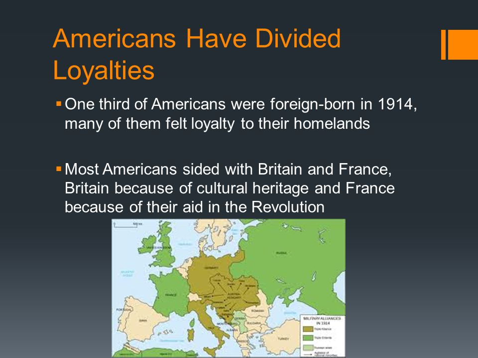 Americans Have Divided Loyalties