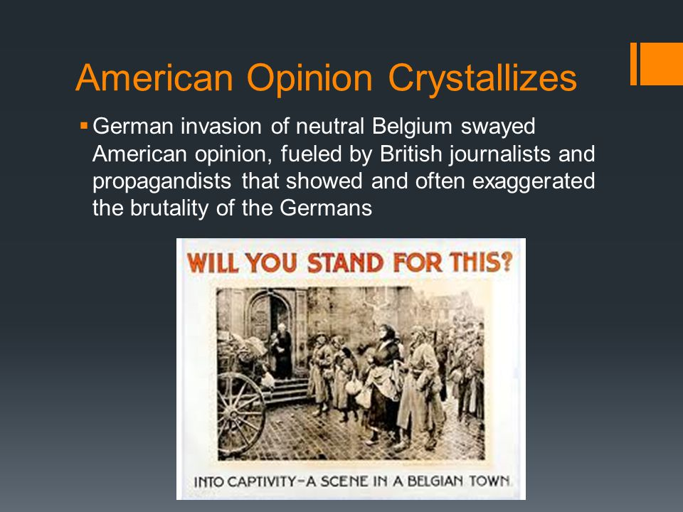 American Opinion Crystallizes
