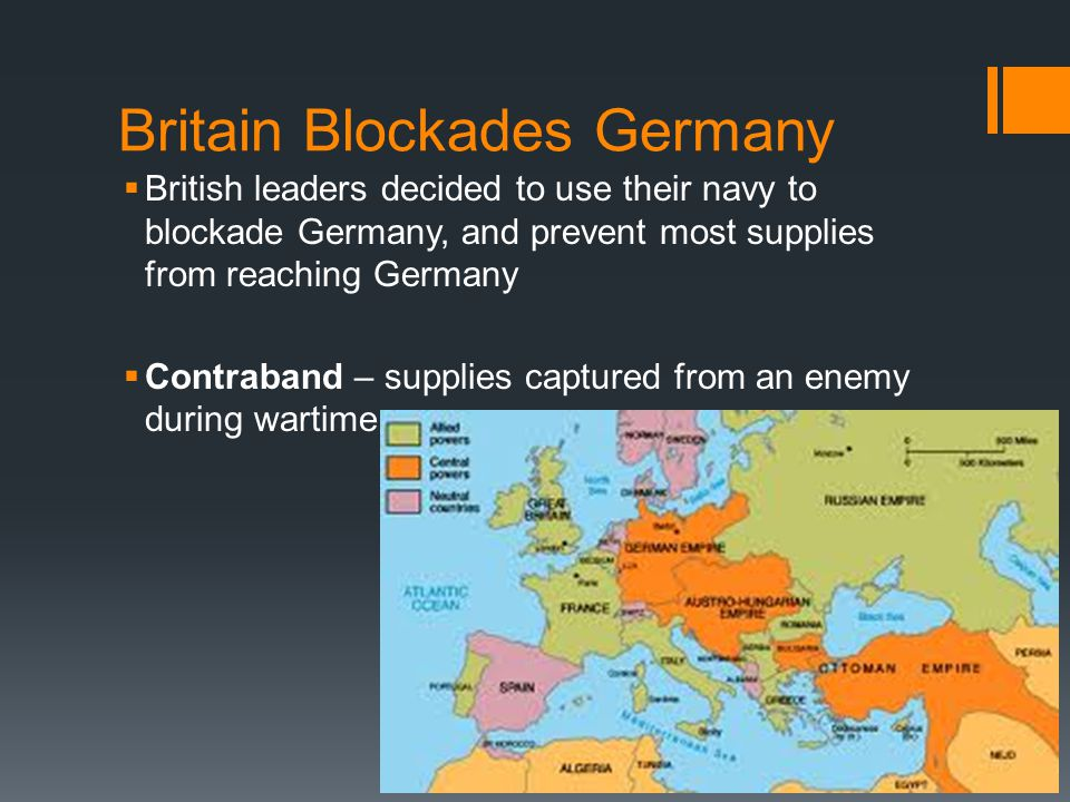 Britain Blockades Germany