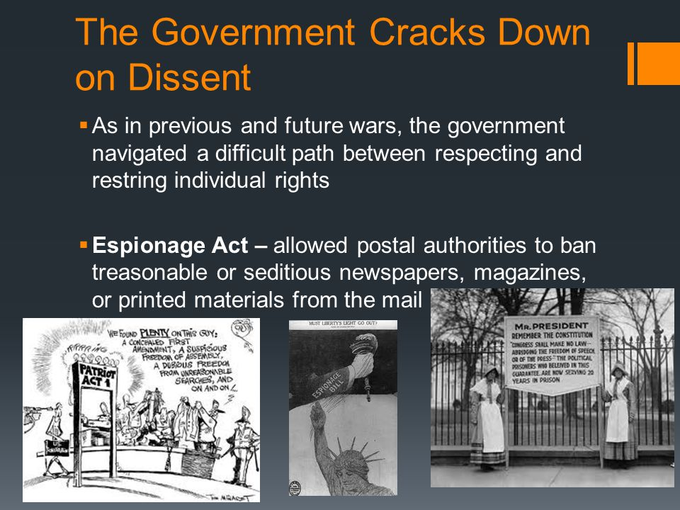 The Government Cracks Down on Dissent