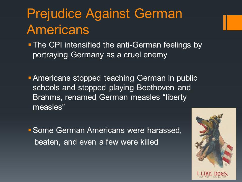 Prejudice Against German Americans