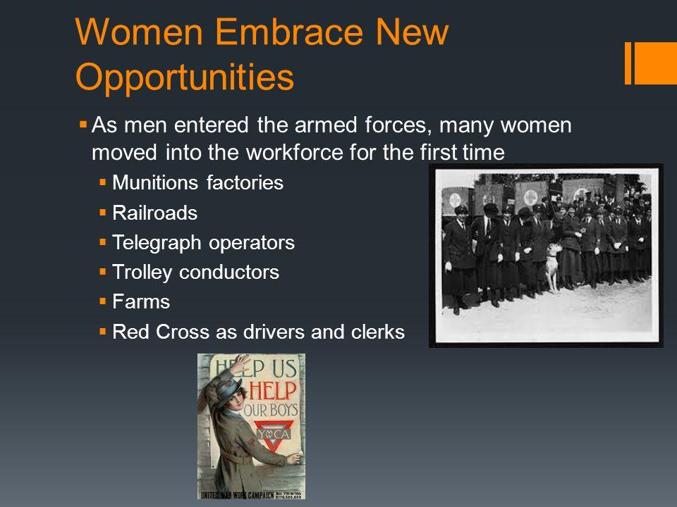 Women Embrace New Opportunities