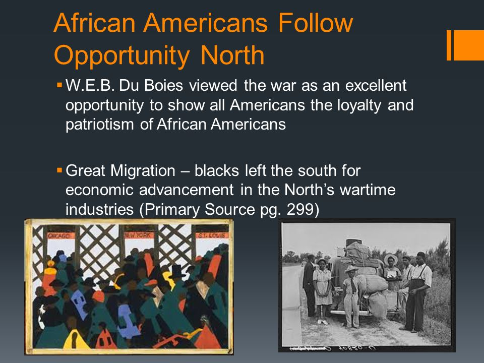 African Americans Follow Opportunity North