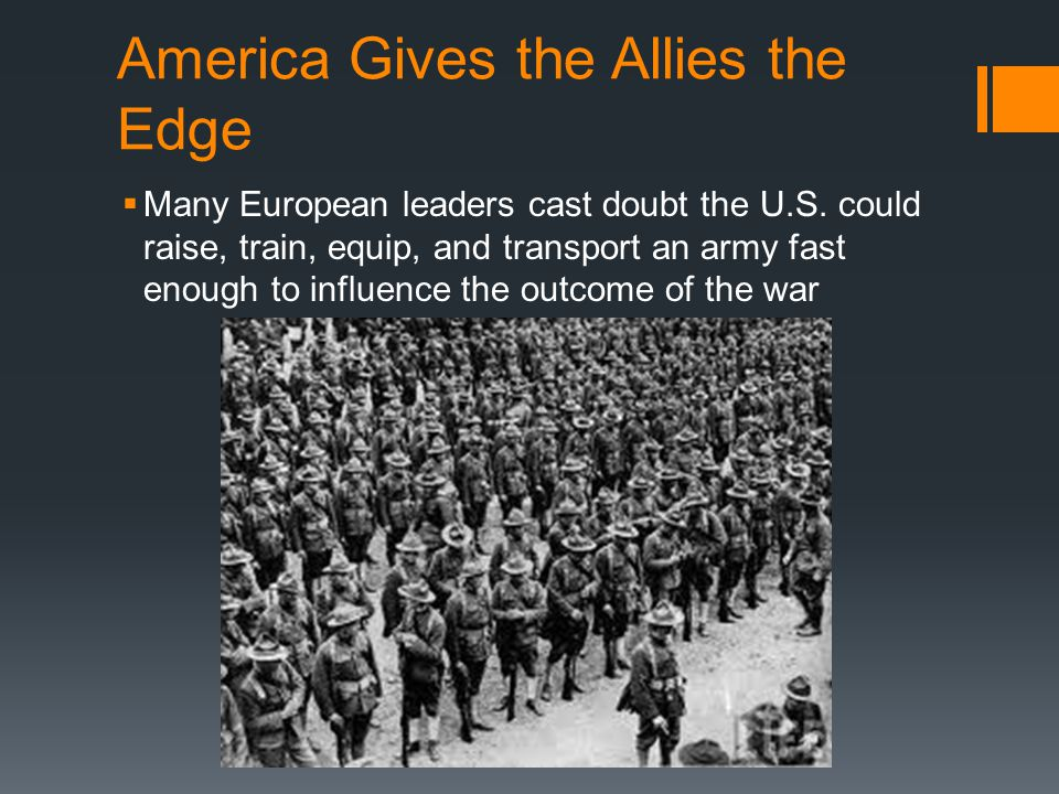America Gives the Allies the Edge