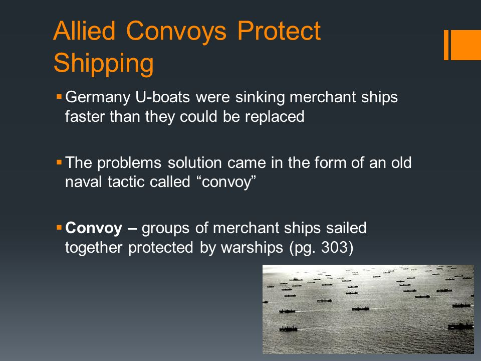 Allied Convoys Protect Shipping