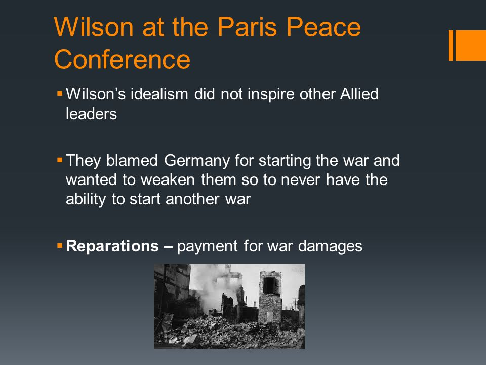 Wilson at the Paris Peace Conference