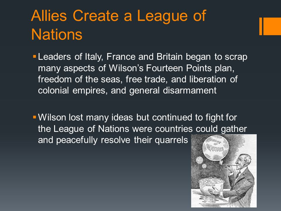 Allies Create a League of Nations