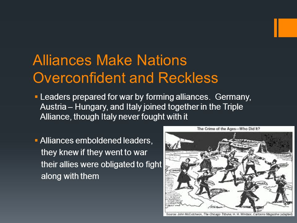 Alliances Make Nations Overconfident and Reckless